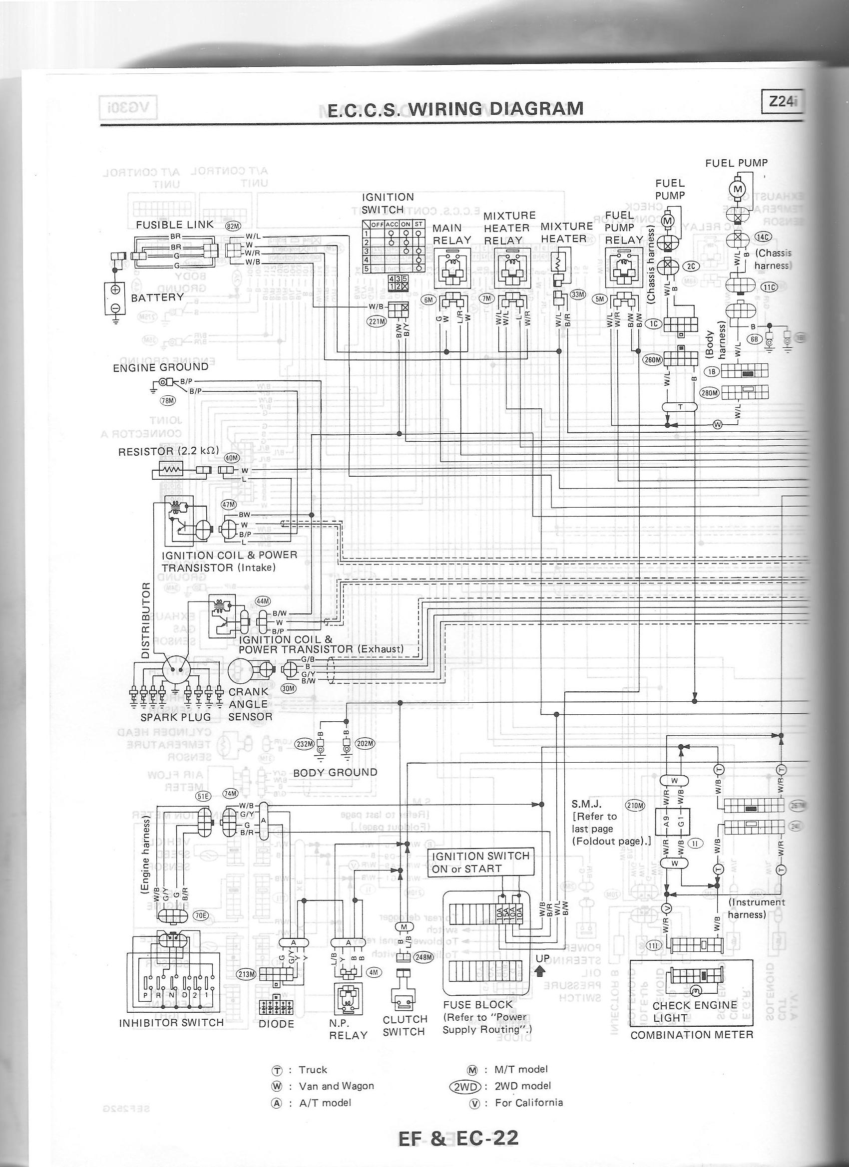 Nissan Wiring Diagram And Body Electrical Parts Schematic 1988 Z24i